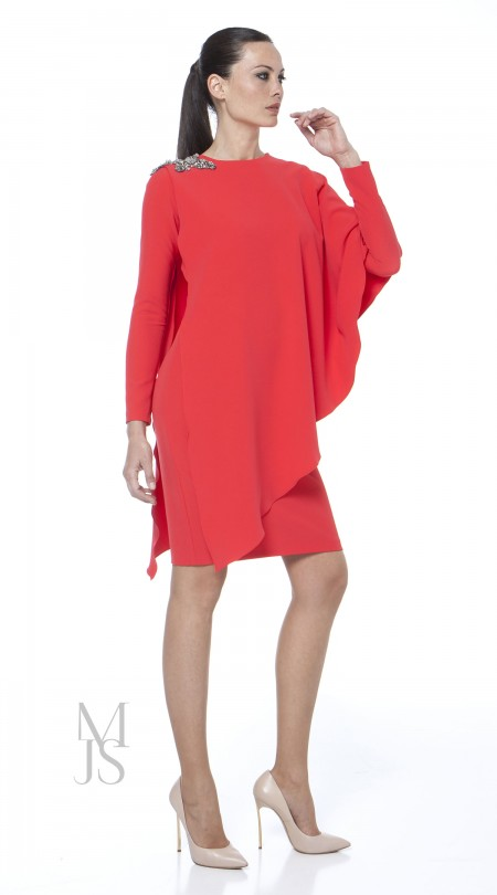 poiret dress rojo