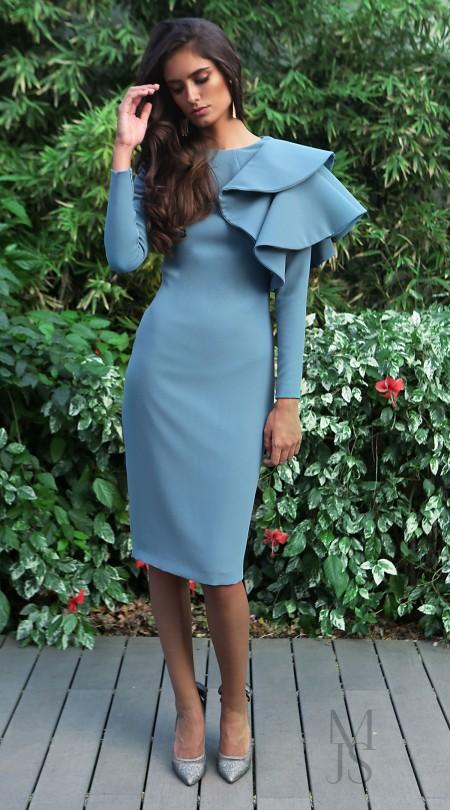 Vestido Ava Azul - María José Suárez